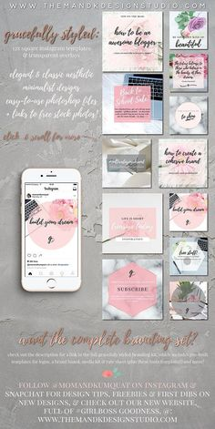 Fashion & Lifestyle Insta Templates Templates **Snag this ultra-chic Insta template set at a killer discount for a limited time only!****Regular by the M&K Design Studio