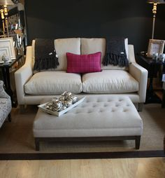 Sorano sofa in Izan Crudo, Puff pisa grande buttoned footstool. Both from KA International. Sofy, Pisa, Furniture Ideas, Room Ideas, Couch, Interiors, Tv, Inspiration, Products