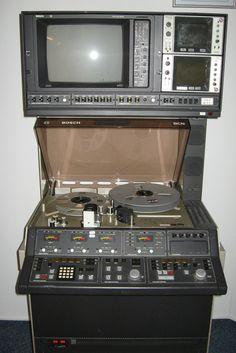 Bosch studio video recorder (80s) - www.remix-numerisation.fr - Rendez vos souvenirs durables ! - Sauvegarde - Transfert - Copie - Restauration de bande magnétique Audio - MiniDisc - Cassette Audio et Cassette VHS - VHSC - SVHSC - Video8 - Hi8 - Digital8 - MiniDv - Laserdisc