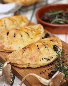 Mushroom, lardon,  rosemary savory hand pies