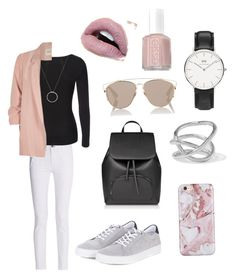 """""""Love"""" by laerke-thomsen on Polyvore featuring rag & bone, River Island, Barbour, Christian Dior, Jennifer Fisher, Daniel Wellington, Roberto Coin and Essie"""