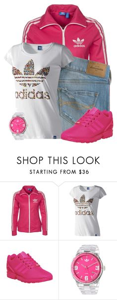 """Pink Adidas"" by dajvuuloaf ❤ liked on Polyvore featuring adidas Originals and adidas"