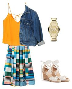 """""""Happy Day!"""" by broadwayfashion7 ❤ liked on Polyvore featuring L.K.Bennett, MANGO and Michael Kors"""