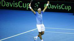 CCOPA DAVIS. Del Potro le ganó a Andy Murray por 6-4, 5-7 y 6-7 (7-5), 6-3 y 6-4; ahora se enfrentan Pella vs. Edmund. (Juano Tesone)