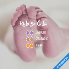 Kids Be Calm - Essential Oil Diffuser Blend #EssentialOilBlends