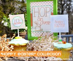 Hoppy EASTER collection via Eye Candy Creative Studio #eastertoppers #eastersigns #easterbunny #easterparty