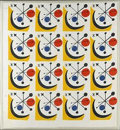 """Calder #1"" Textile (Model No. 1-145)  Alexander Calder 1949"