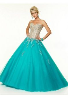 2015 Style Ball Gown Sweetheart Floor-length Tulle Prom Dresses/Evening Dresses #QA116