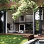 This architect's family home blends seamlessly with its leafy surroundings.