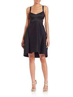 Halston Heritage Sleeveless Cutout Dress - Black - Size