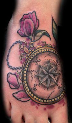Compass - Miss Jo Black Tattoos