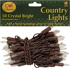 KP Creek Gifts - Silicone Teeny Lights, Brown Cord, 50ct | decor ...