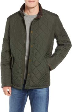 BLACK MENS MERC LONDON PADDED QUILTED JACKET STYLE BRIAR