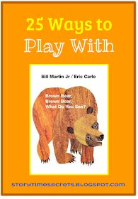 add Memory Game to the list Story Time Secrets: Learning Activities for Favorite Children's Books: 25 Ways to Play With Brown Bear, Brown Bear, What Do You See? Preschool Literacy, Preschool Books, Literacy Activities, In Kindergarten, Preschool Activities, Brown Bear Activities, Preschool Plans, Toddler Preschool, Eric Carle