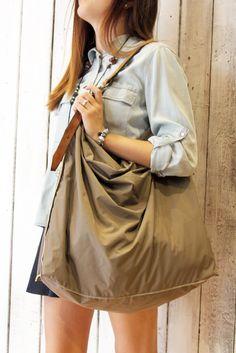 Large Handmade Italian technical fabric&Leather  ALLEGRA SACCA 1 di LaSellerieLimited su Etsy