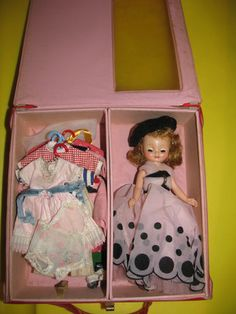 Betsy McCall doll with clothes and trunk