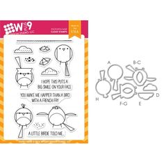 Wplus9 HAPPY BIRDS SET Clear Stamp And Die Combo WPLUS287 Preview Image