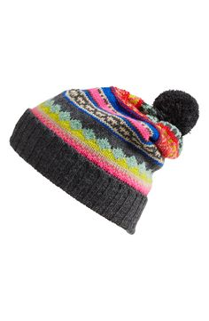 Bright beanie for winter.