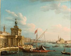 Pietro Bellotti (1625–1700) Il Bacino di San Marco con la Punta della Dogana