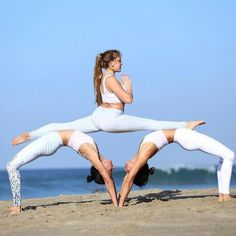 50 Fantastic Yoga Poses You Can Try In 2019 50 Fantastic Yoga Poses You Can Try In can be done any where and anytime. If you are a yoga lover, then you can do yoga by yoursel Group Yoga Poses, Acro Yoga Poses, Partner Yoga Poses, 3 Person Yoga Poses, 3 People Yoga Poses, Yoga Humor, Yoga Challenge, Yoga Meditation, Meditation Images