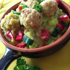 Pompoencurry met kipballetjes - From Fat To Fit