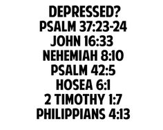 Bible verses about being depressed.