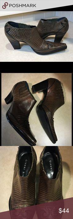 Gianni Bini Snake Print Booties Gianni Bini Snake Print Ankle Boot Gianni Bini Shoes Ankle Boots & Booties