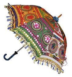 ethnic #umbrella for #theme wedding! #kutchi #gujarat #rajasthani #mirror work