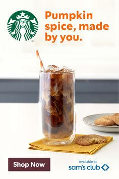 Explore ways to enjoy every sip of your favorite fall flavor, even over ice. Stock up for the season with convenient Starbucks® club pack sizes at Sam's Club. Ice Stock, Real Food Recipes, Cooking Recipes, Non Alcoholic Cocktails, Creative Coffee, Starbucks Recipes, Cafe Style, Thanksgiving 2020, Halloween Food For Party