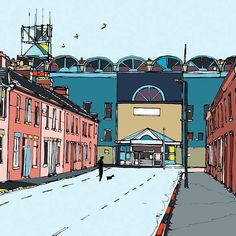 The old Maine Road, Manchester City  Jamie Edwards  Beautiful Games: football grounds from the streets