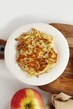Easy Cheddar-Rosemary Spiralized Potato Pancakes