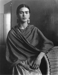 VINTAGE PHOTOGRAPHY: Frida Kahlo (1907-1954) by Imogen Cunningham (1883-1976)