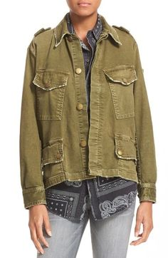 Current/Elliott 'Slanted Pocket' Army Jacket available at #Nordstrom