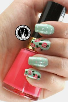34 Beautiful Pastel Nails Design With Flowers Visit my site http://youtu.be/vXCPDEkO9g4 #nails