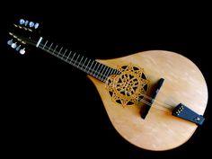 Beautiful Fleur-de-lis Teardrop Mandolin by Gypsy's Music