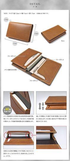 Leather Bag Tutorial, Leather Wallet Pattern, Sewing Leather, Leather Pouch, Leather Tooling, Leather Craft, Leather Books, Leather Book Covers, Leather Business Card Holder
