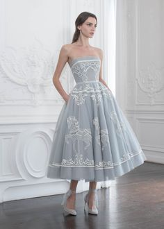 2b9bb5eb67 PSAW1913 Tulle ballerina dress with carousel embroidery Cute Dresses