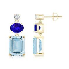 AAAA Quality Emerald Cut Aquamarine, Oval Tanzanite and Diamond Dangling Earrings, http://www.amazon.com/dp/B00WSE0I0I/ref=cm_sw_r_pi_awdm_zG8Qvb1563WDJ