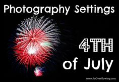 Firework photography is actually real simple and spectacular blasts of color captured is super impressive! Here are some of the Best SLR Manual Camera Settings for of July Photography! Photography Settings, Hobby Photography, Photography Lessons, Photography Camera, Photography Tutorials, Digital Photography, Photography Business, Photography Ideas, 4th Of July Photography