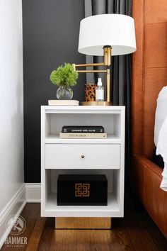 44 Ideas For Diy Table Lamp Base Night Stands Home Bedroom, Bedroom Wall, Bedroom Furniture, Master Bedroom, Bedroom Decor, Bedrooms, Bedside Table Decor, Bedside Tables, Table Lamp