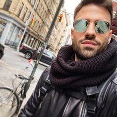 Στυλάρα μουυ!!!!<3 Mans World, My King, Leather Fashion, Pilot, Bae, Greek, Mens Sunglasses, Handsome, Stylish
