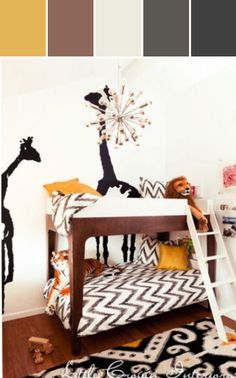 Black Yellow Boys Bedroom in Modern Boys Bedroom Designed By Wayfair via Stylyze