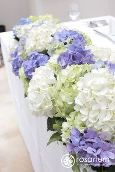 6月の鎌倉 紫陽花の装花 L'EGLISE鎌倉さまへ の画像|ロザブロ ウェディングフラワー&ギフトフラワー