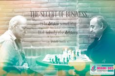 """""""The secret of business is to know something that nobody else knows."""" – Aristotle Onassis  #SEO #Marketing #Business"""