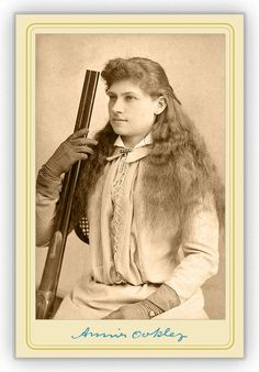 """Annie Oakley (born Phoebe Ann Mosey; August 13, 1860 – November 3, 1926) was an American sharpshooter and exhibition shooter. Her """"amazing talent"""" first came to light when the then 15-year-old won a shooting match with traveling show marksman Frank E. Butler (whom she married). The couple joined Buffalo Bill's Wild West show a few years later."""