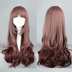 Moda Senhora longa das mulheres de cabelo ondulado perucas cosplay clássico , cabelos longos 10 32inches em Perucas de Beleza & saúde no A...