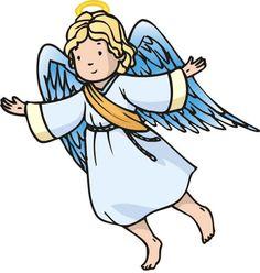 Flanelplaat engel, kerst / med hyrderne der får besøg af engle