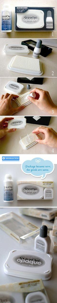 STAZON OPAQUE - Cotton white - Started set. ¥1,800, via Etsy.