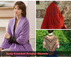 28 Easy Crochet Prayer Shawls | Do you know someone who might need a bit of comfort? Work up one of these crochet prayer shawls to show them how much you care