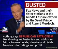 I have no problem with Muslims or Australians ~ but if your primary news source is coming from these two foreign billionaires ~ You're Nuts!